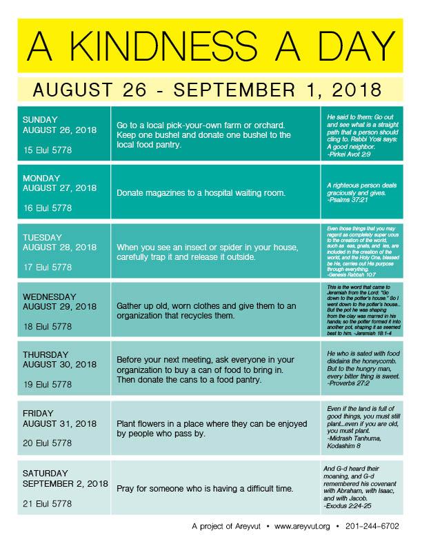 August 26-September 1, 2018