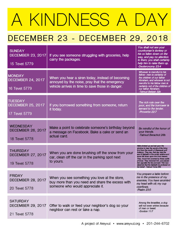December 23-29, 2018