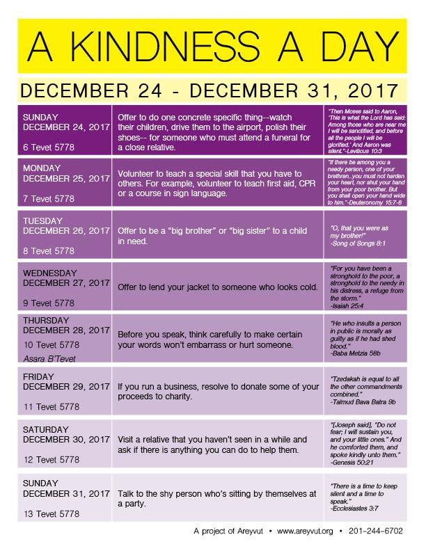 December 24-31, 2017