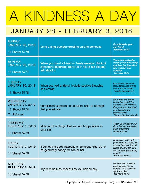 January 28-February 3, 2018