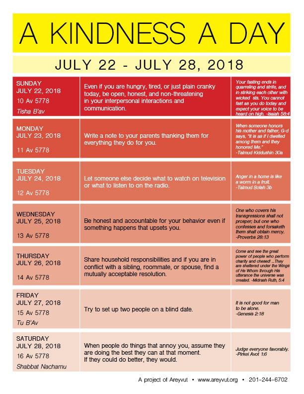 July 22-28, 2018