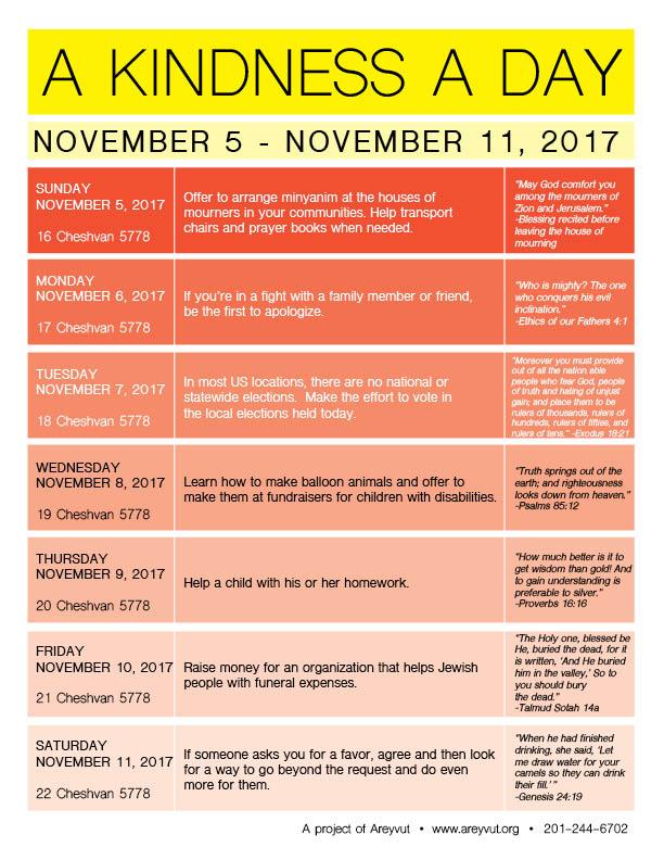 November 5-11, 2017