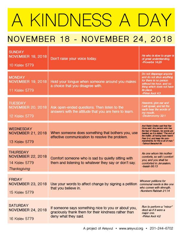 November 18-24, 2018