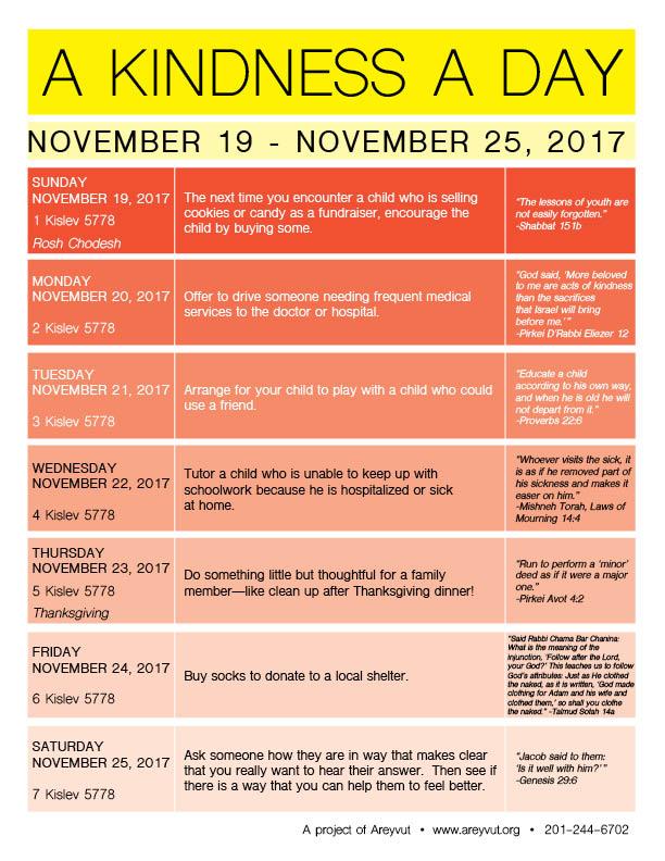 November 19-25, 2017