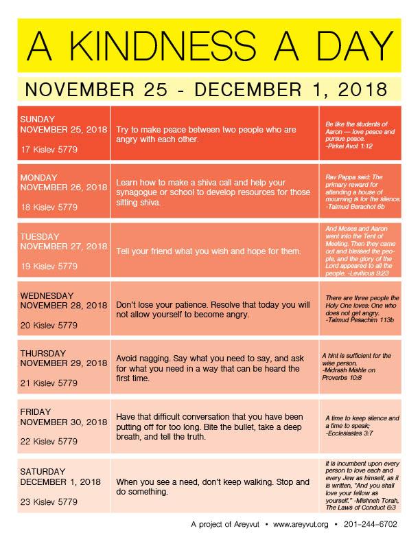 November 25-December 1, 2018