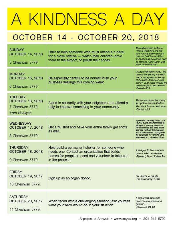 October 14-20, 2018