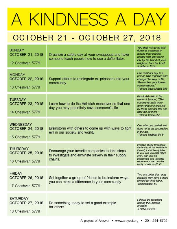 October 21-27, 2018