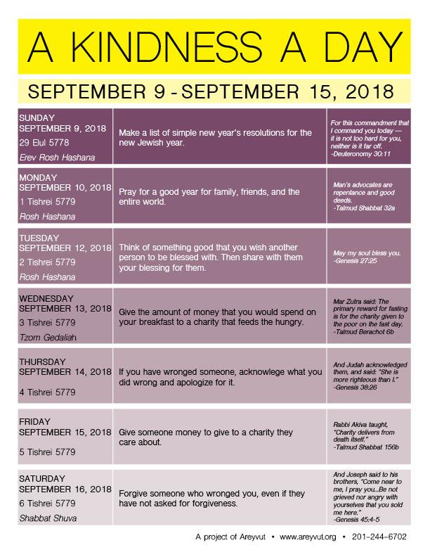September 9-15, 2018