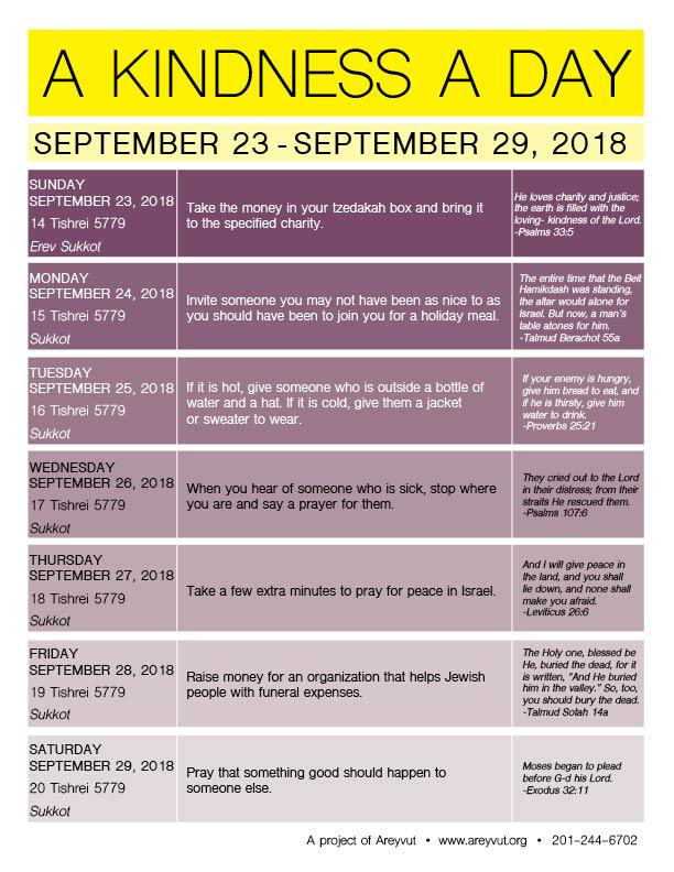 September 23-29, 2018