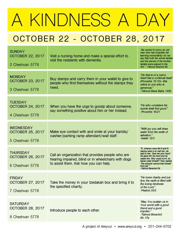 October 22-28, 2017